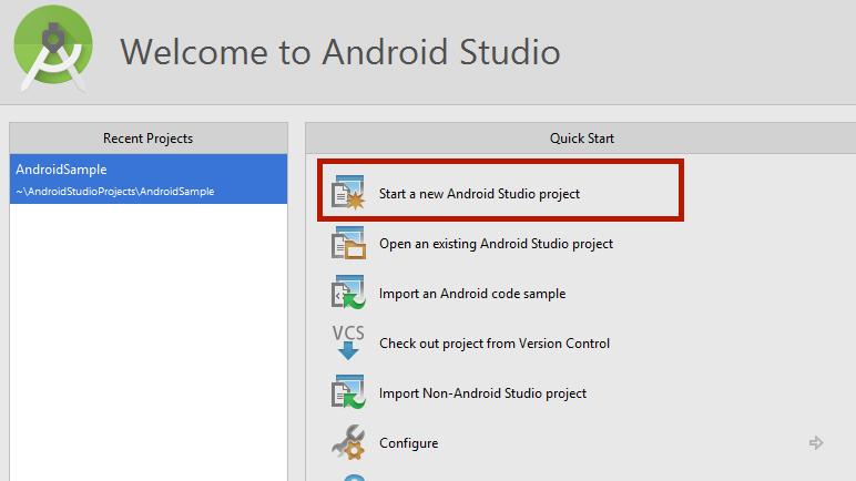 AndroidStudioWelcomeNewProject
