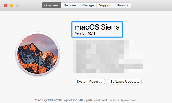 macOS Sierra for Xcode